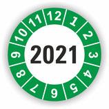 Prüfplakette Ø 20mm 2021 Grün