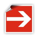 FZ-8 Brandschutzzeichen Richtungspfeil 2 nach DIN 4844-2