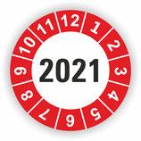 Prüfplakette Ø 20mm 2021 Rot