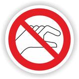 VER-014 Hineinfassen verboten
