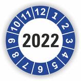 Prüfplakette Ø 20mm 2022 Blau