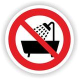 VER-028 Diese Gerät in der Badewanne zu nutzen ist verboten
