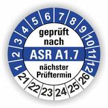 ASR A1.7 BLAU Ø 30mm Wartungsetiketten