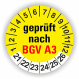 BGV A3 GELB Ø 20mm