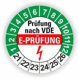 E-PRÜFUNG GRÜN Ø 40mm