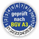 BGV A3 BLAU Ø 30mm Wartungsetiketten