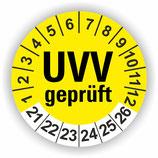 UVV GEPRÜFT GELB Ø 20mm