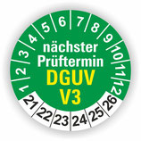 DGUV V3 GRÜN Ø 40mm Wartungsetiketten
