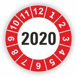 Prüfplakette Ø 40mm 2020 Rot