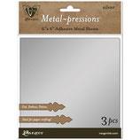 """Vintaj Metal-pressions Adhesive Metal Sheets """"Silver"""" - Ranger"""