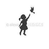 """Stanzschablone """"Mädchen mit Vogel"""" - Alexandra Renke"""