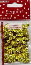 Pailletten Hologramm Gold