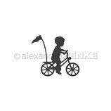 """Stanzschablone """"Kind auf Fahrrad"""" - Alexandra Renke"""