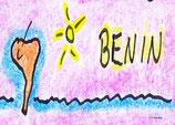 Benin mit Hinweispfeil