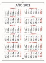 Calendari anual 50x69cm