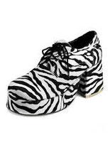 Herren Plateauschuhe Zebra
