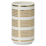 "Greengate  - Vase ""stripe gold"""