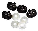 Plastik-Tiernasen schwarz 12 mm