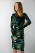 DRESS Velvet green hues