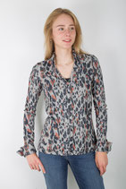 CHIARICO BLOUSE LIV Grey animal print