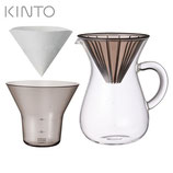 【KINTO/キントー】 SCS-02-CC-PL コーヒーカラフェセット300ml プラスチック