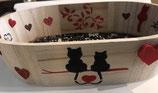 Plateau ovale décoration chats.