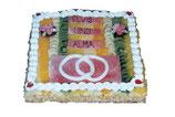 Torte eckig 34x34 cm für 20 Personen
