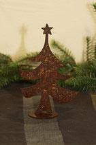 Tannenbaum aus gerostetem Metall, klein