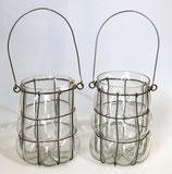 Windlicht Draht/Glas