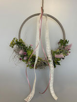Hoop in rosa grün, Ø25cm