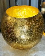 Goldschale / Windlicht gold Metall