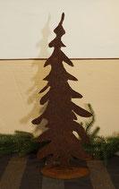 Tannenbaum aus gerostetem Metall, geschlossen