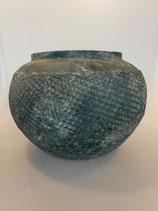 Keramik Topf Petrolfarben