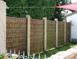 Weidenelemente für Sichtschutz-Zaun