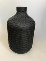 Vase schwarz Fiberstone