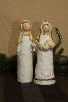 Maria und Josef Keramik