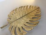 Blatt Ornament Gold Alu für Wand oder Schale