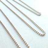 Silber-Halskette (Kugelkette fein)