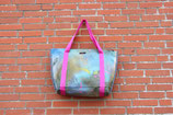 Beach Bag/ Shopping Bag aus einem Segel mit Farbresten aus Graffitidosen, Unikatnr. 717