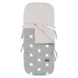 Babyschalen-Sommerfußsack - Grau/Weiss