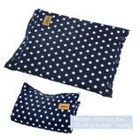 Armpolster und Griffschoner - Sterne Blau - Tragehilfe für die Babyschale Gr. 0