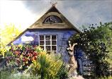 Blaue Scheune auf Hiddensee