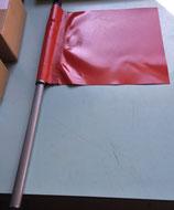 Signalfahne rot, teleskopierbar