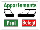 Appartements Frei / Belegt
