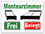Monteurzimmer Frei / Belegt