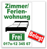 Zimmer/Ferienwohnung Frei / Belegt