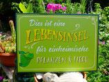 """3 Lebensinsel-Schild """"Frosch"""" aus Holz, lackiert"""