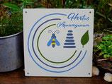 3 Hortus-Schild aus Holz, lackiert