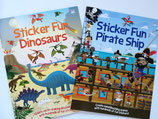 "Set of Sticker Books ""Dinosaurs"" and ""Pirate Ship"""