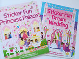 "Set of Sticker Books ""Princess Palace"" and ""Dream Wedding"""